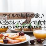 マイルで搭乗!ANAビジネスクラス体験記(成田ーヒューストン)〜機内食編〜