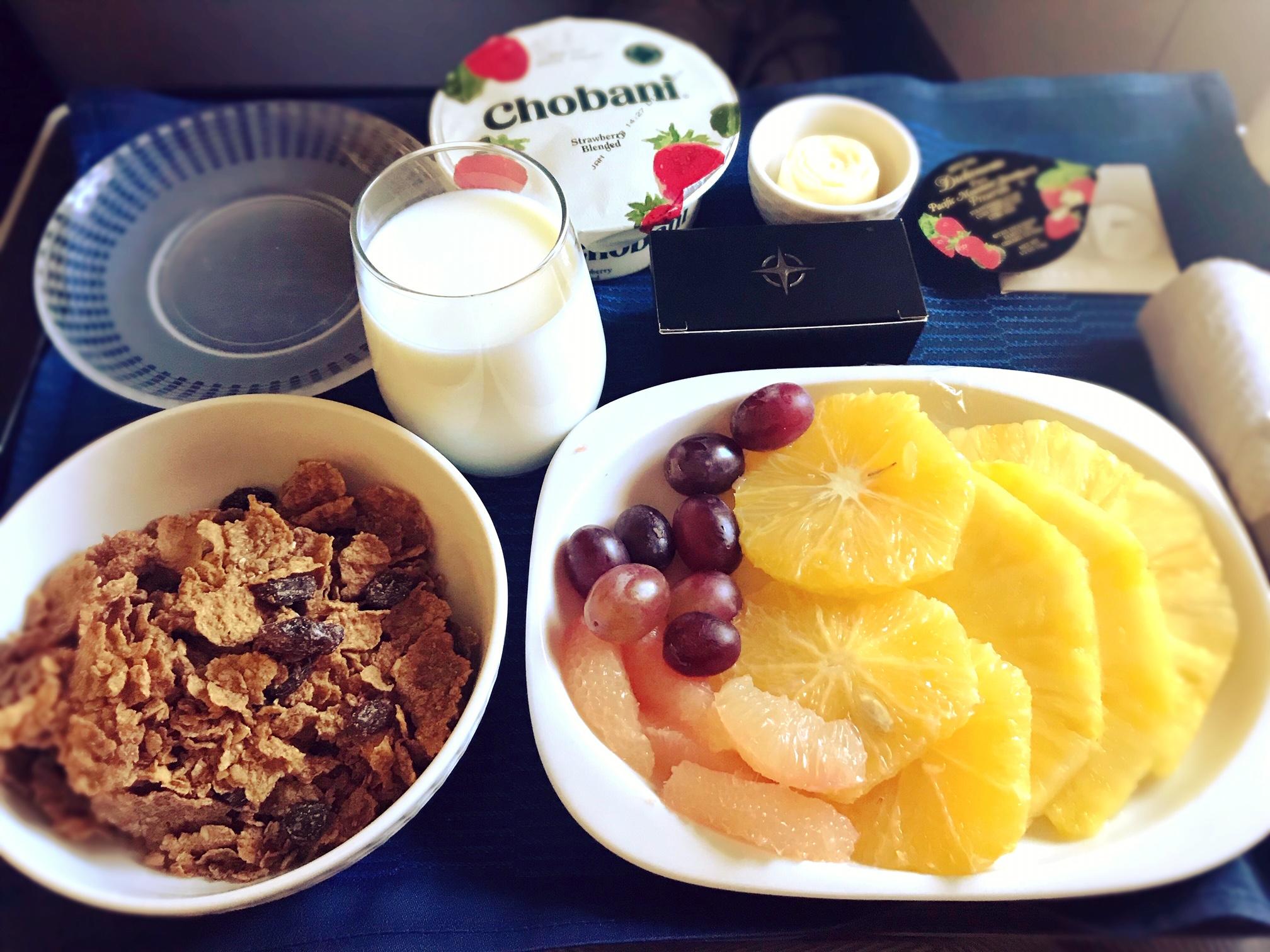 ユナイテッド航空 朝食