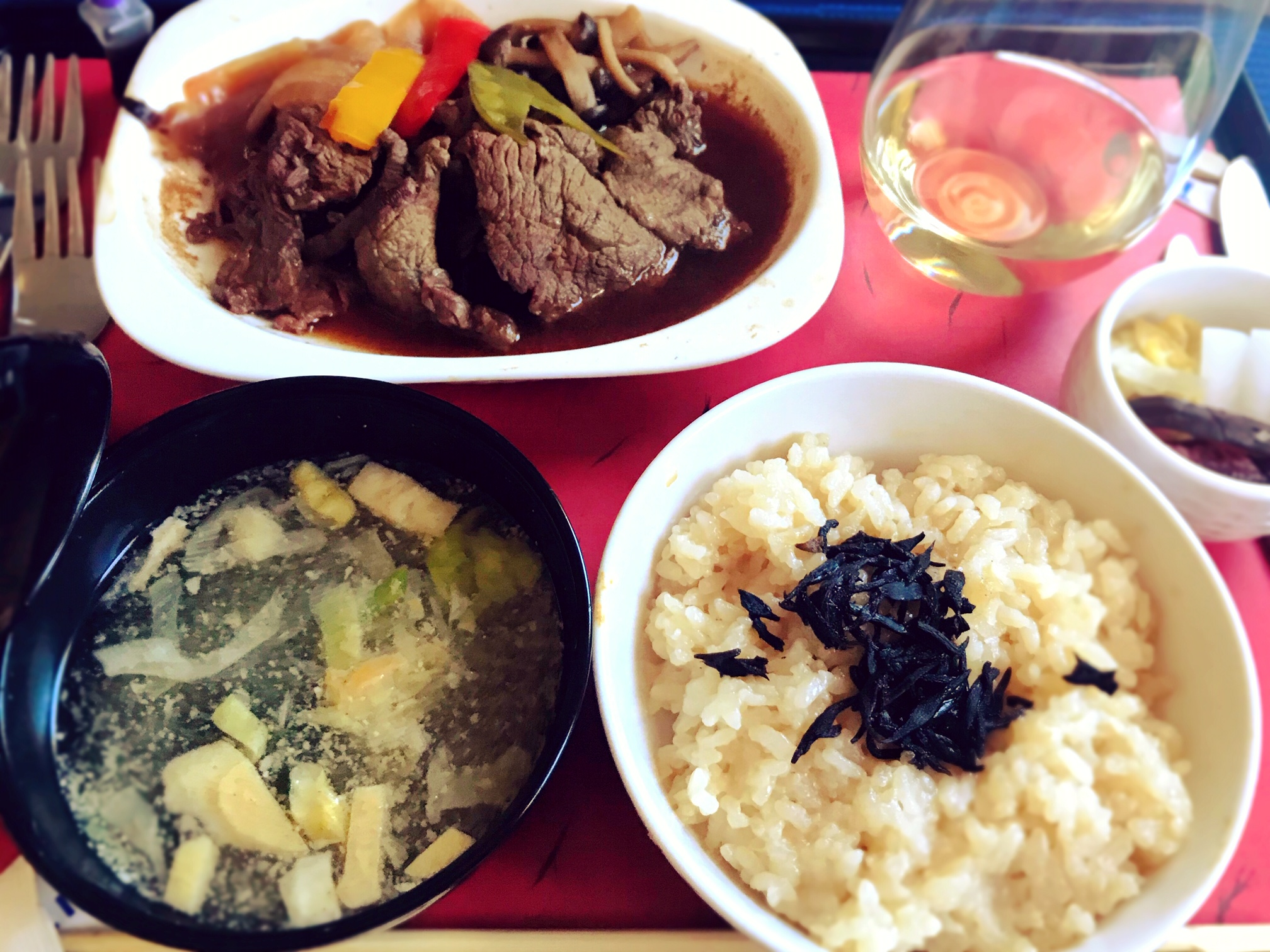 ユナイテッド機内食和食