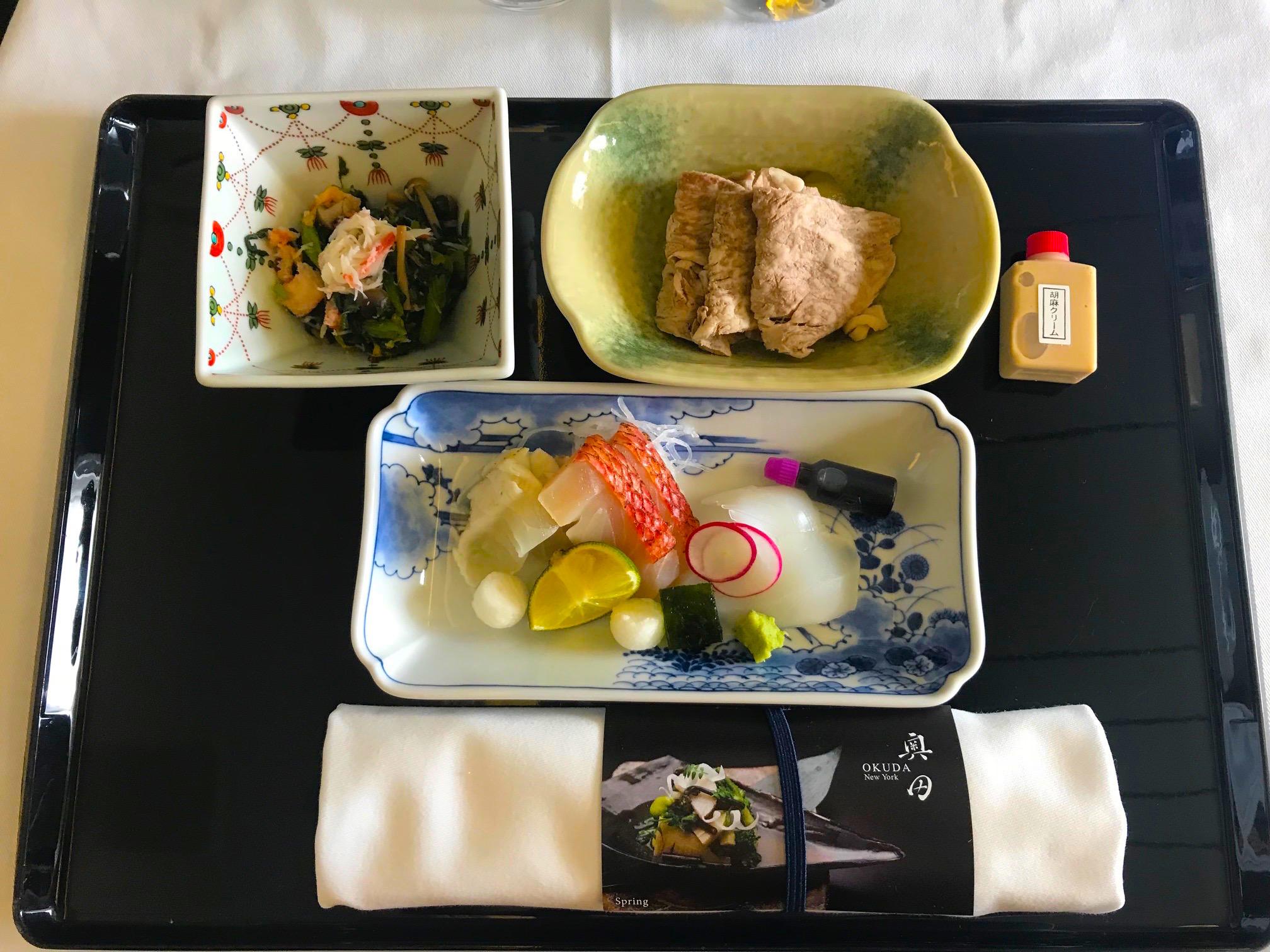 ANAビジネスクラス和食