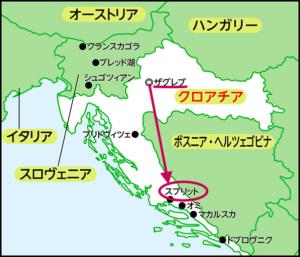 スプリット 地図