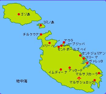 コミノ島地図